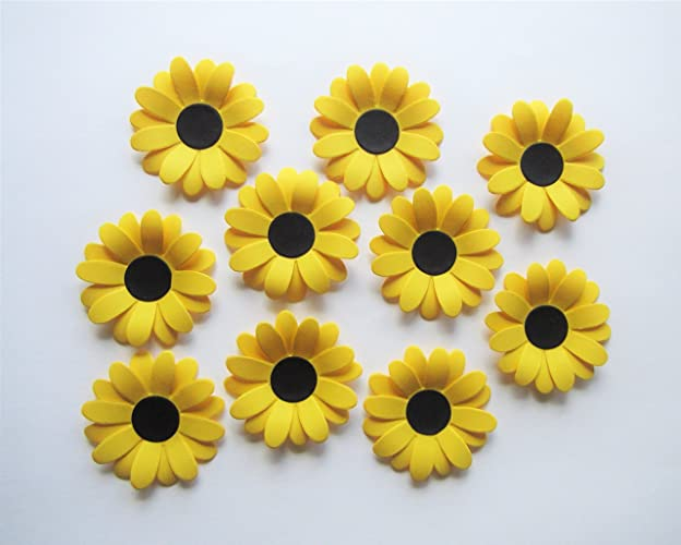 amazon com set of 10 paper sunflowers rustic country farm garden