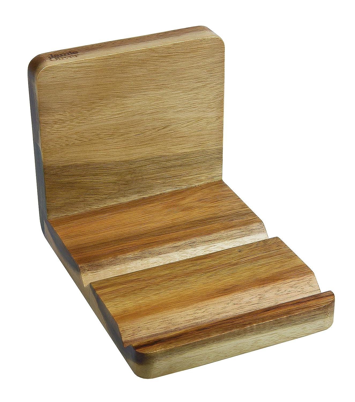 jamie oliver wood recipe book tablet holder kitchen