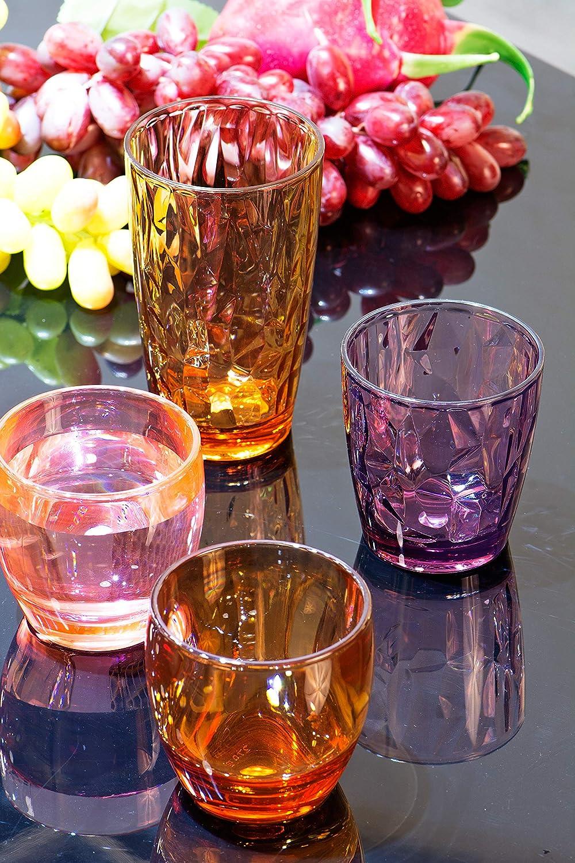 Plastic Tumblers Acrylic Drinking Glasses Set Unbreakable Kids Plastic Cups