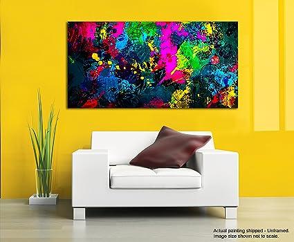 Dipinti Per Soggiorno : Tamatina modern art tela dipinti black beauty pittura astratta