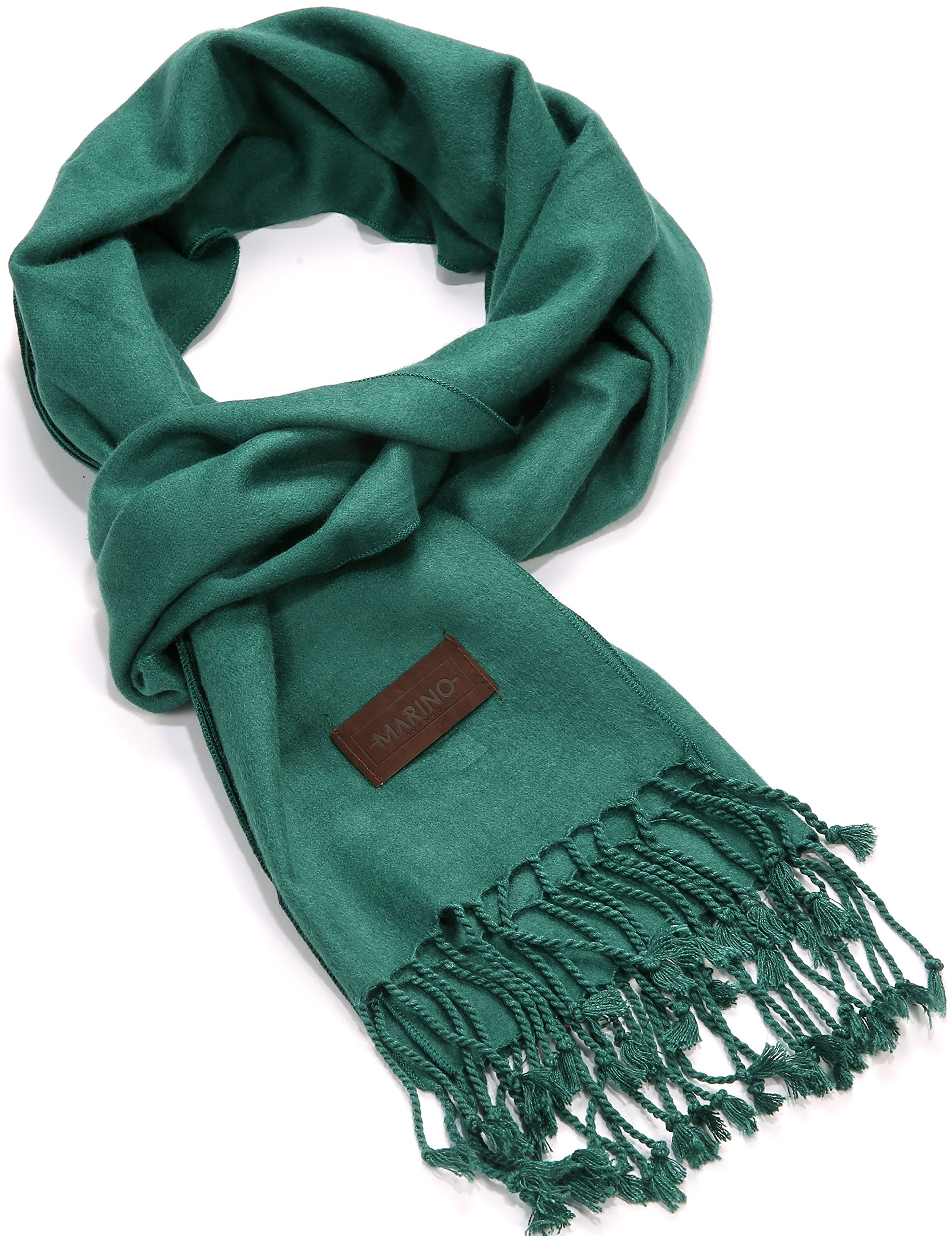 Marino's Winter Cashmere Feel Unisex Men And Women Scarf, 100% Cotton Fashion Scarves, In Elegant Gift Box - Teal