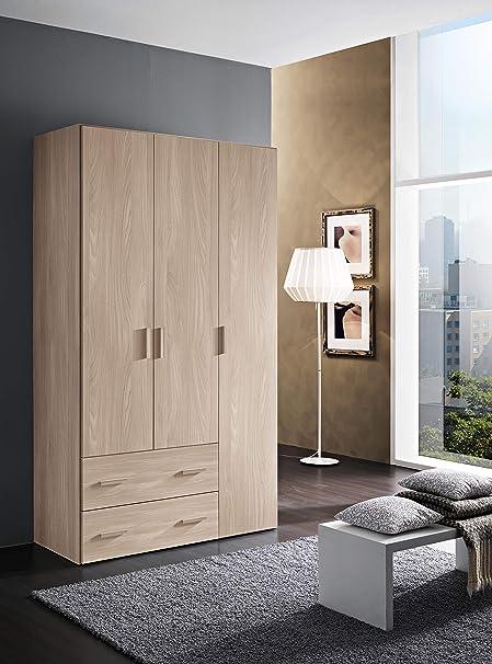 2 cassetti Mis Color Bianco Frassinato H 211 x L 163,4 x P 53,3 cm InHouse srls Armadio in Legno 4 Ante