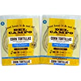 Del Campo Soft Corn Tortillas – 8 Inch Round. 100% Natural, Gluten Free and All-Corn Authentic Mexican Food. Many Serving Options: Wraps, Tacos, Quesadillas or Burritos, Kosher. (8ct.) (Pack of 2)