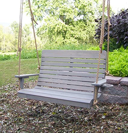 Enjoyable Aspen Tree Interiors Amish Porch Swing 4 Ft Outdoor Hanging Porch Swings Traditional Patio Wooden 2 Person Seat Swinging Bench Pressure Treated Caraccident5 Cool Chair Designs And Ideas Caraccident5Info