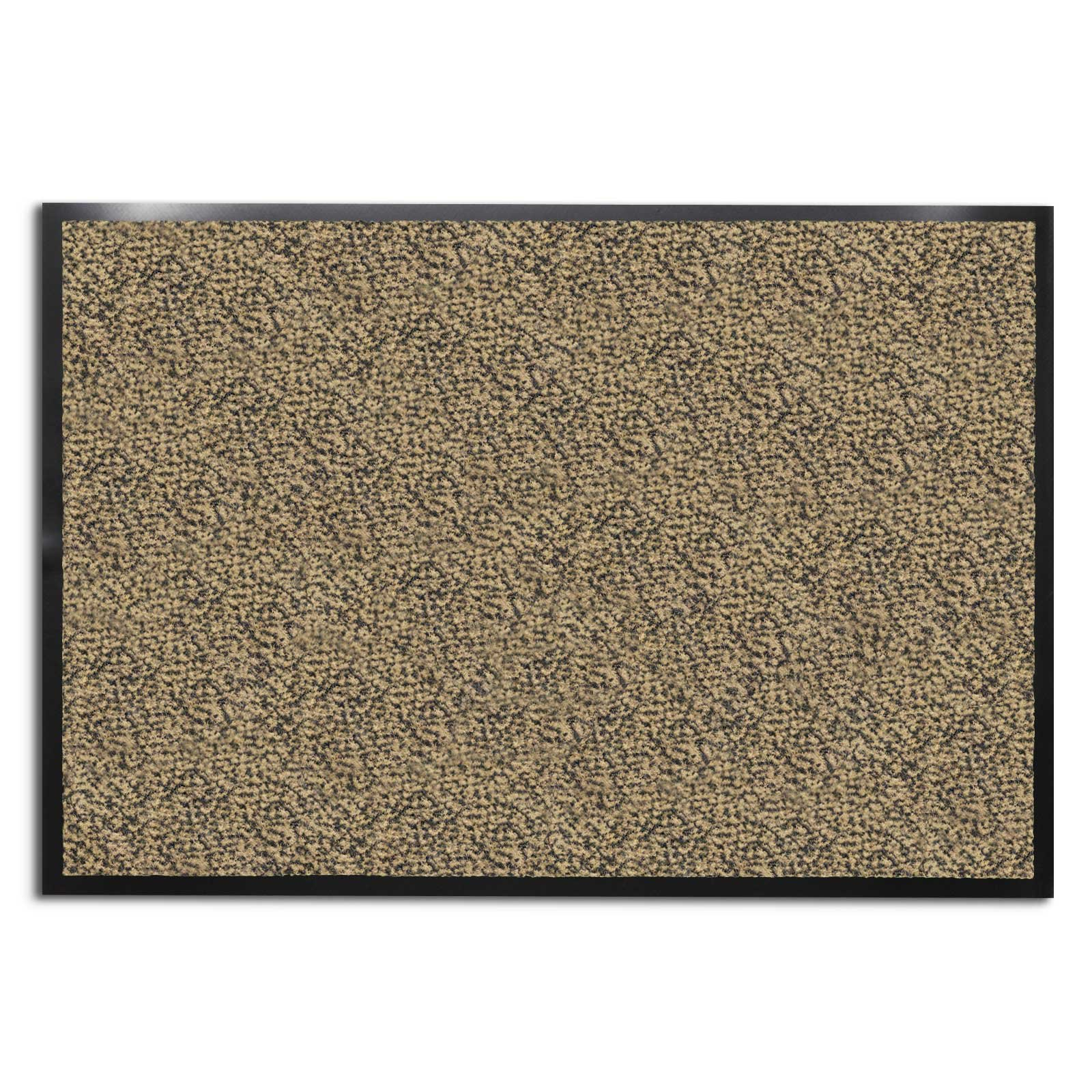 casa pura Carpet Entrance Mat, Beige/Black (Mottled) 48'' x 72'' | Absorbent, Non-slip, Indoor/Outdoor (Multiple Sizes) by casa pura