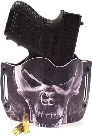 Kimber HK Kel-Tec Kahr OWB Kydex Gun Holsters. Smoke Skull