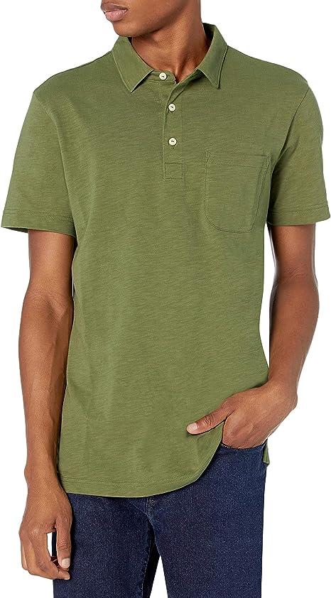 Amazon Brand – Goodthreads mens Short-sleeve Slub Polo Short ...