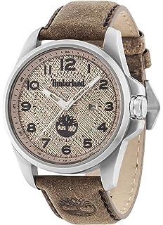 Timberland 14768JS-07 Mens Leyden Dark Brown Leather Strap Watch