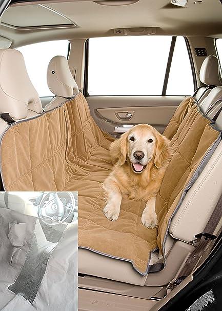 Pet Travel Hammock Dog Car Seat Cover Microvelvet Sand