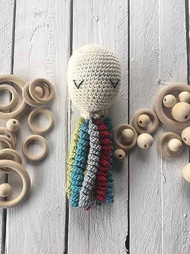 pulpo sonajero ganchillo crochet amigurumi para recién nacidos ...