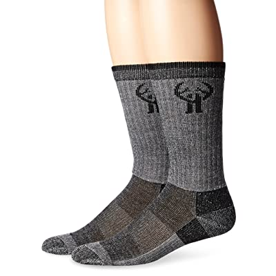 .com : 2 Pack Huntworth Men's Everyday Wool Blend Sock, Black, Large : Clothing