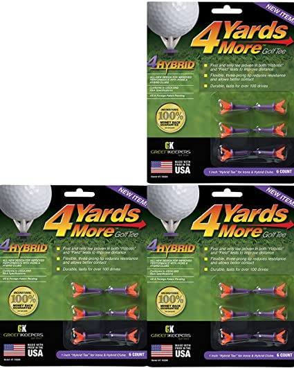 Amazon.com: 4 yards más Tees de golf 1