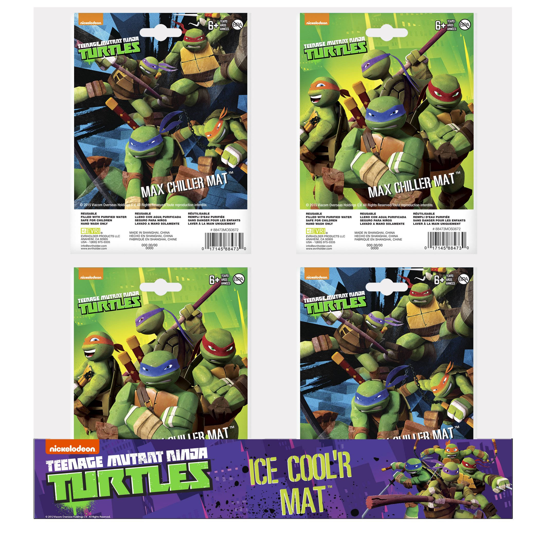 Evriholder Teenage Mutant Ninja Turtles Max Chiller Mat, Large, Assorted