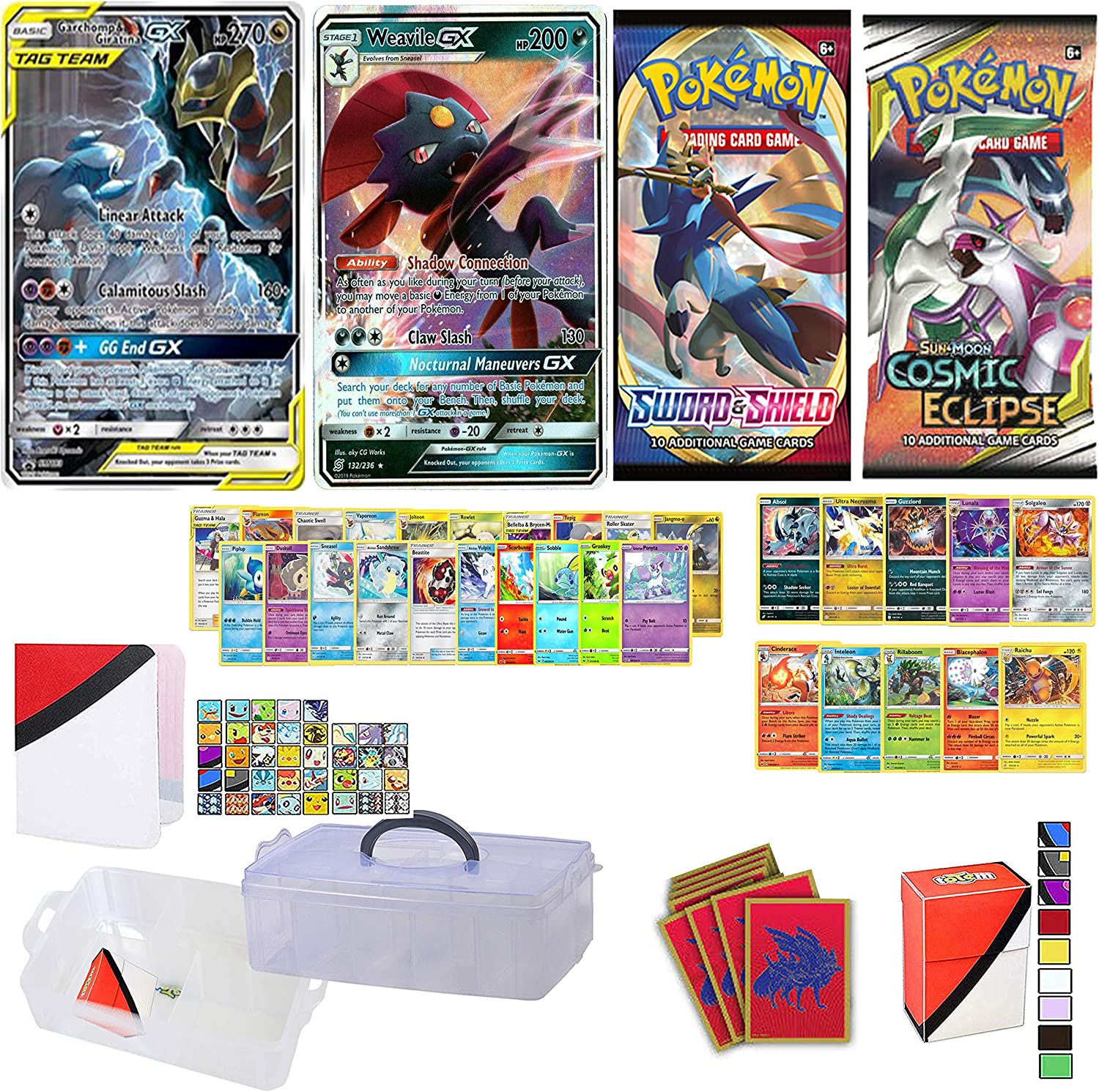 Used Pokemon Card Zecrome Deck Case Sleeve