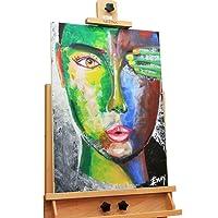 Dipinto in acrilico 'donna' in 50x70cm | Quadro da parete dipinto in acrilico arte moderna