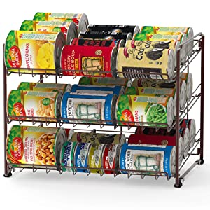 Simple Houseware SHW Stackable Can Rack, Bronze