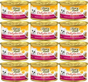 Fancy Feast Purina Delights with Cheddar Grilled Chicken & Cheddar Cheese Feast in Gravy (12-CANS) (3 OZ Each)
