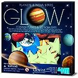 4m Glow 3d sistema solar, planetas y estrellas nova, Glow-in-the-Dark verde