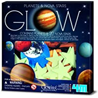 Sistema Solar 3D, 4 m, Planetas y Estrellas Nova, Glow-in-The-Dark Verde