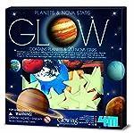 Sistema Solar 3D de 4 m de Brillo, Planetas y Estrellas Nova, Glow-in-The-Dark Verde