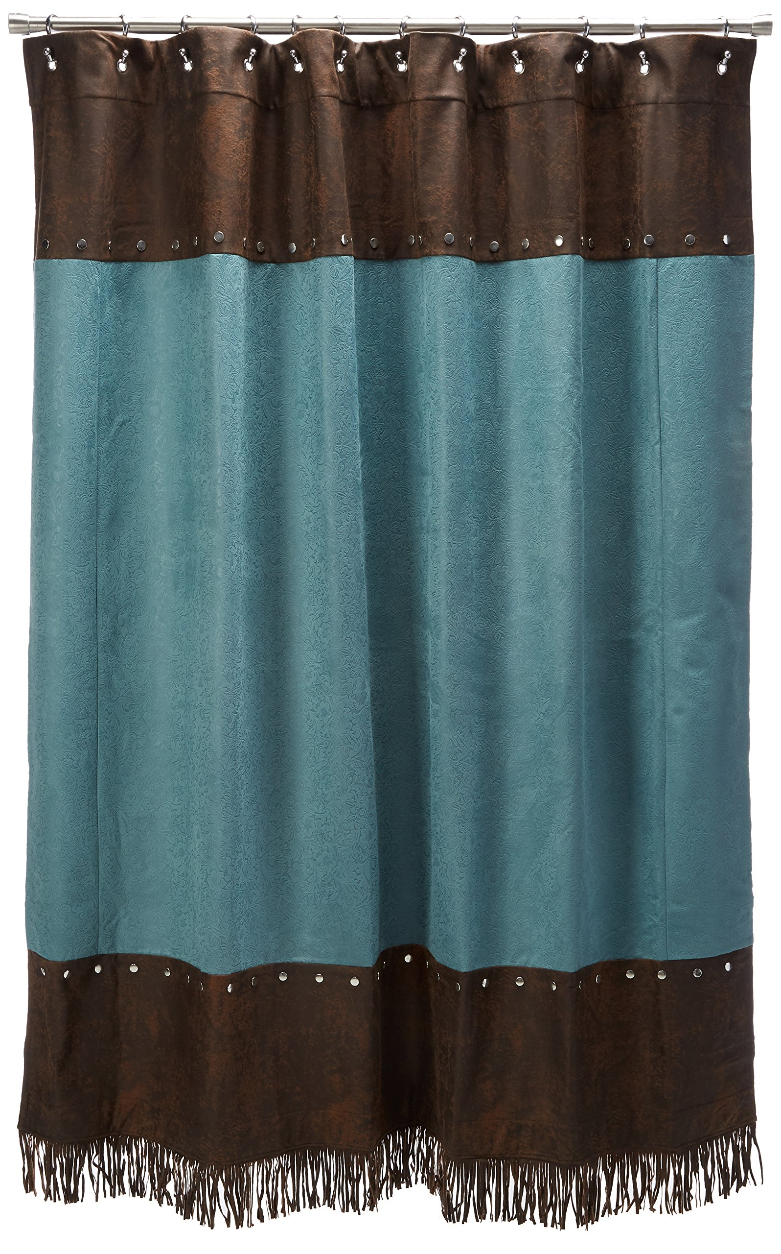 HiEnd Accents Cheyenne Western Shower Curtain, Turquoise by HiEnd Accents (Image #1)