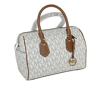 michael michael kors women s aria medium leather satchel studded rh amazon com