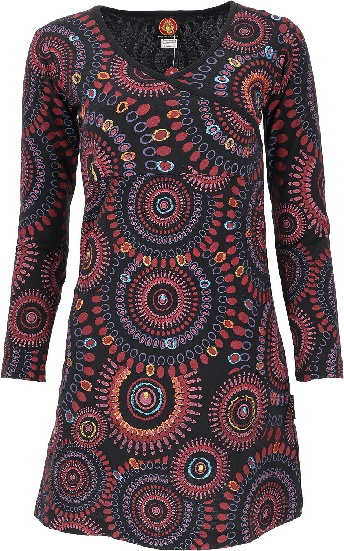GURU-SHOP Hippie Mini Vestido Boho Chic/Corto Ropa: Amazon.es ...