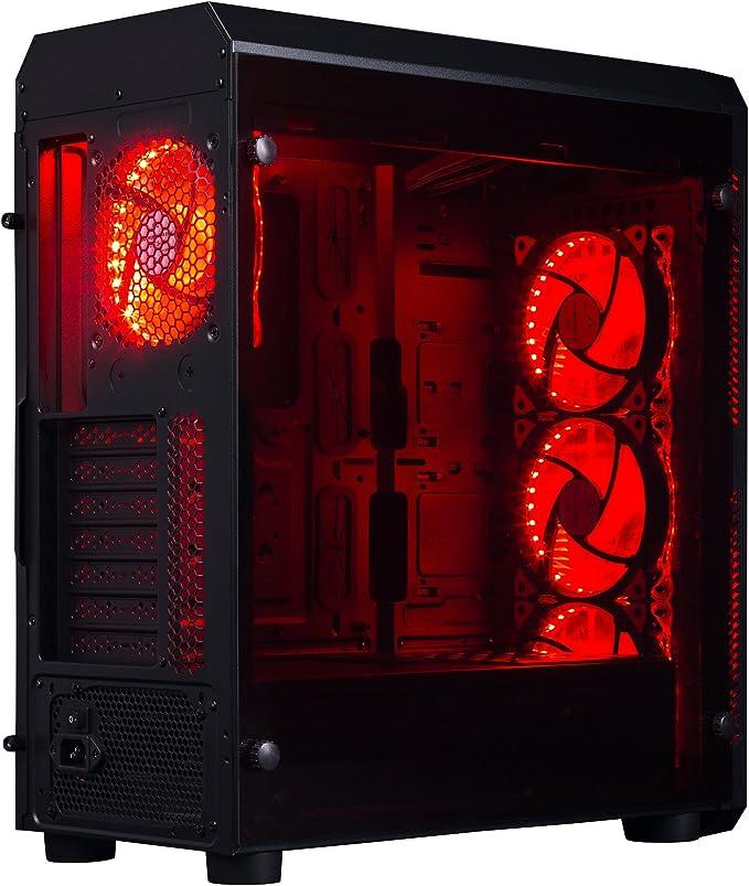 Hiditec NG-RX Torre Negro - Caja de Ordenador (Torre, PC, SECC, Vidrio Templado, Negro, ATX,ITX,Micro ATX, Juego): Hiditec: Amazon.es: Informática