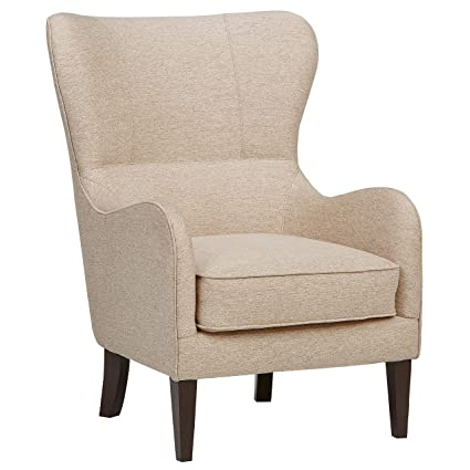 Amozon Accent Chairs.Ravenna Home Modern Wingback Accent Chair 27 5 W Beige