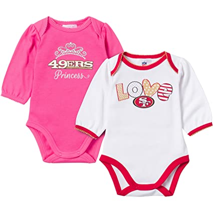 152a0a47e Gerber Childrenswear NFL Baltimore Ravens Girls Long Sleeve Bodysuit (2  Pack), 12 Months, Pink/White: Amazon.in: Computers & Accessories