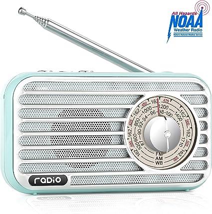 Portable 5W FM 87-108MHz Radio MP3 Player Bluetooth Speaker USB Built-in Battery