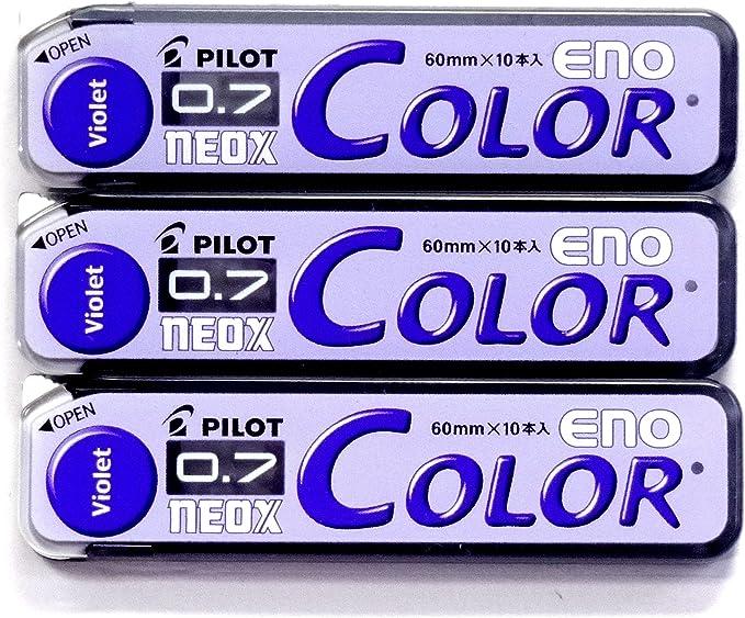 Pilot Color Mechanical Pencil Lead Eno 10 Lead /×3 Pack//total 30 Leads 0.7mm Green Japan Import Komainu-Dou Original Package