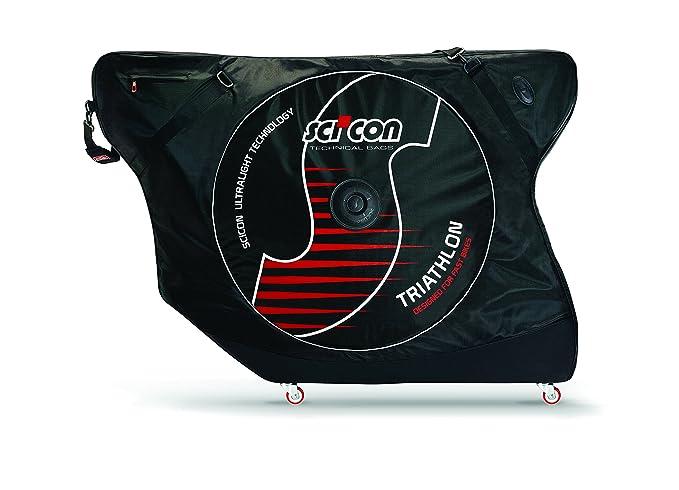 Sci Con - Aeroconfort Triathlon, Maleta de Ciclismo, Negro: Amazon.es: Deportes y aire libre