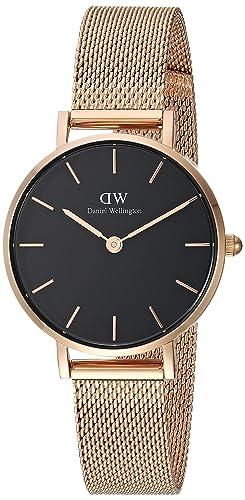 Daniel Wellington DW00100217 - Reloj Analógico para Mujer de Cuarzo con Correa en Acero Inoxidable: Amazon.es: Relojes