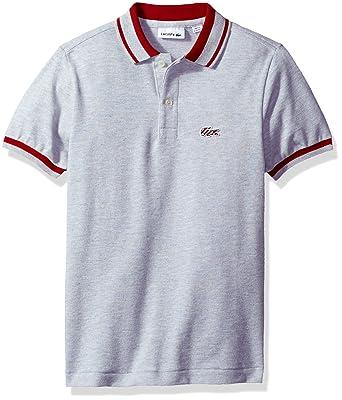90c2a862f Amazon.com  Lacoste Boy Short Sleeve Candy Stripe Croc Polo  Clothing