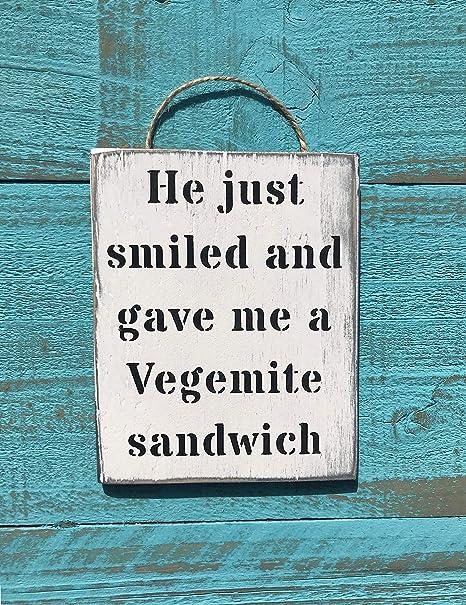 Amazon.com: Faaca He Just Smiled Vegemite Sandwich ...