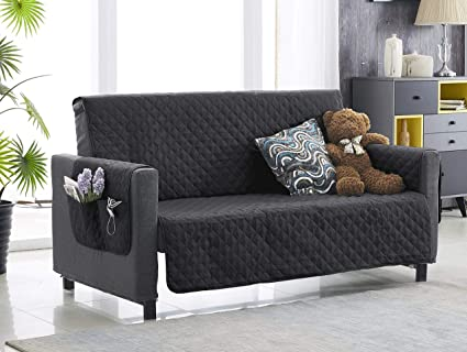 Amazon.com  Argstar Black Loveseat Cover with Pockets for Pets 731fc498d