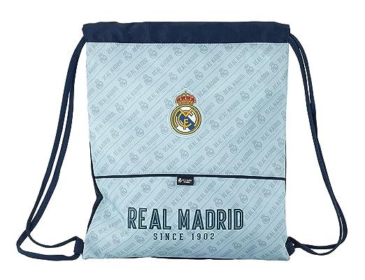 Safta Saco Plano Real Madrid Corporativa Oficial Saco Plano Grande 350x400mm: Amazon.es: Ropa y accesorios