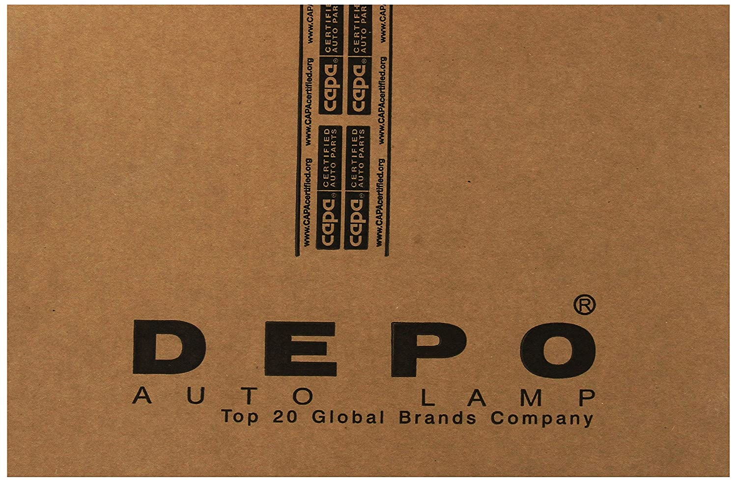 Depo 331-1933L-ACT Ford Econoline Left Hand Side CAPA Certified Tail Lamp Assembly