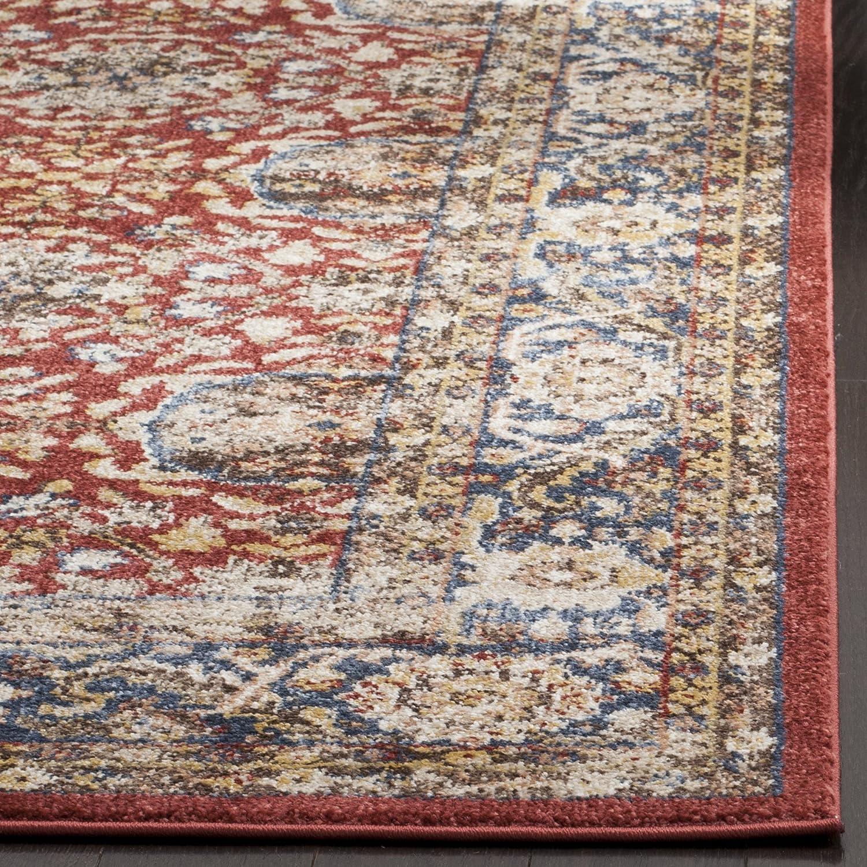 Safavieh Bijar Collection BIJ636B Traditional Oriental Vintage Royal Blue and Brown Runner 23 x 12 BIJ636B-212