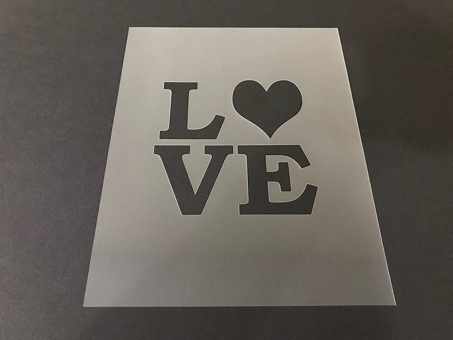 Valentine's Stencil #5 Reusable 10 mil Thick 7in x 9in sheet