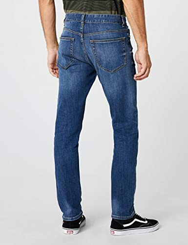 New Look Indigo Wash Slim, Pantalones Para Hombre: Amazon.es ...