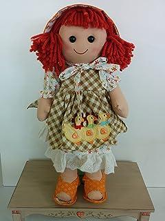 Bambola My Doll NOVITA' 2015 quadretti beige crema con ricamo oche 42CM