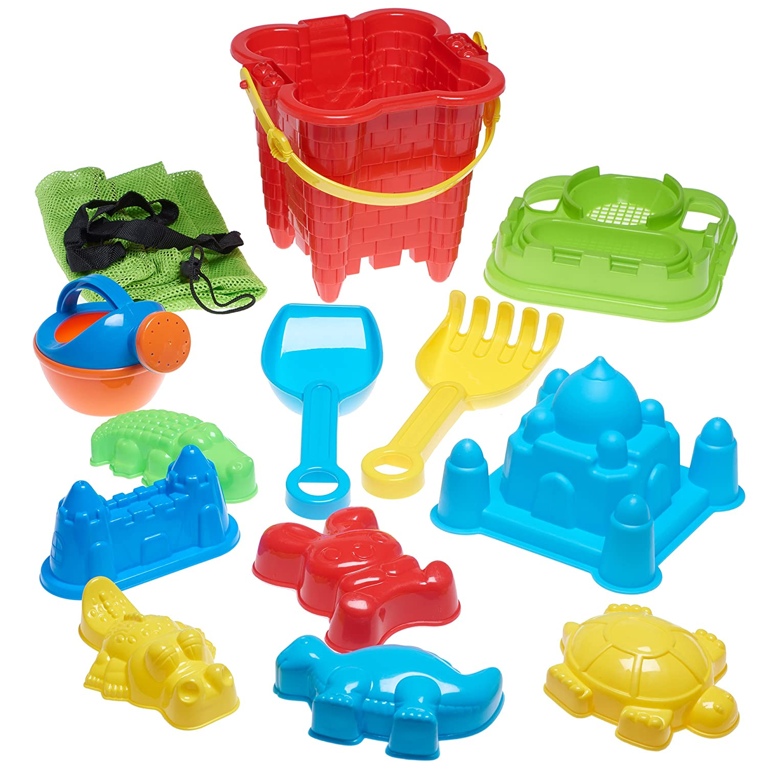 Amazon Beach Toy Set in Reusable Zippered Bag with Mesh Bag
