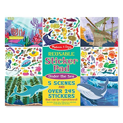 Melissa & Doug Reusable Sticker Activity Pad - Under The Sea Toy: Toys & Games