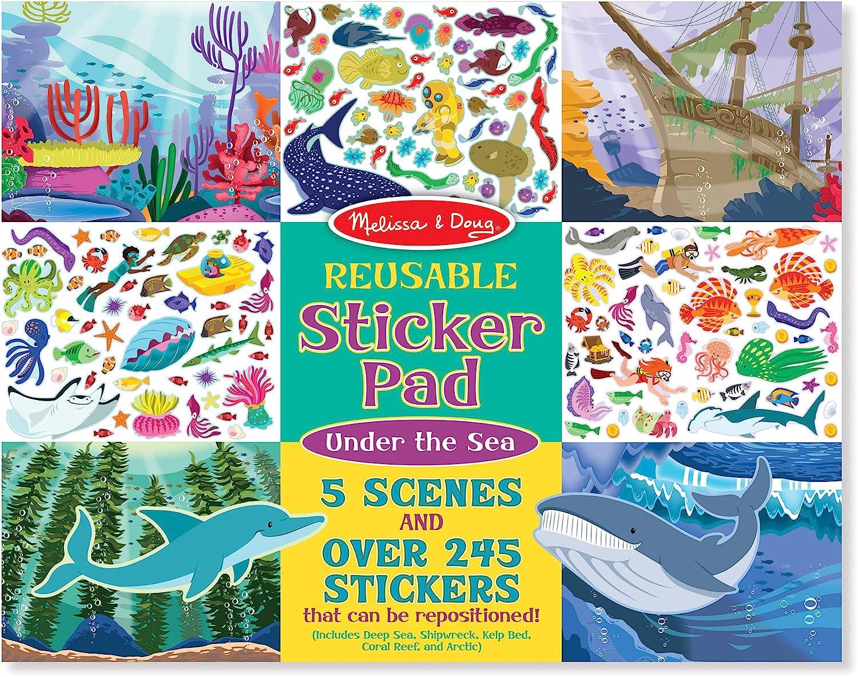 Melissa & Doug Reusable Sticker Activity Pad - Under The Sea Toy