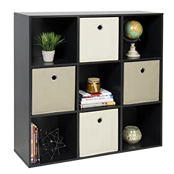 Exceptionnel Amazon.com : Best Choice Products 9 Cube Bookshelf Display Storage System  Compartment Organizer W/ 3 Removable Back Panels   Black : Office Products