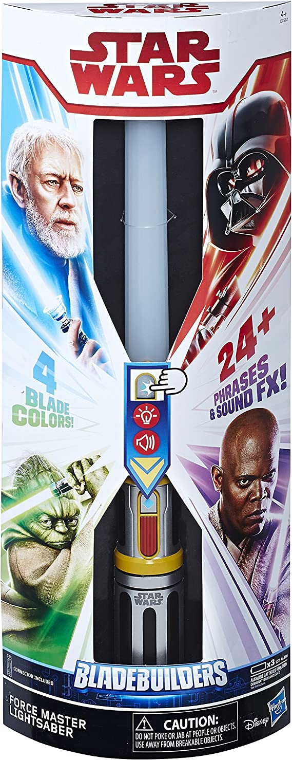 phrases sounds Star Wars Bladebuilders Lightsaber Light up 4 Colours 24