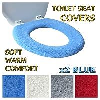 Toilettensitzabdeckung – Superwarmes Fleece – Metall Sicherungsscheibe – Universalgröße - Maschinenwäsche