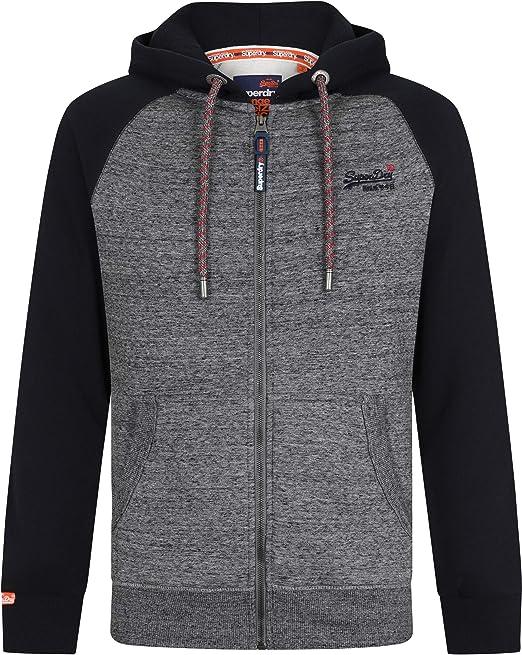 Superdry Men's Orange Label Raglan Zip Hood Sports Hoodie